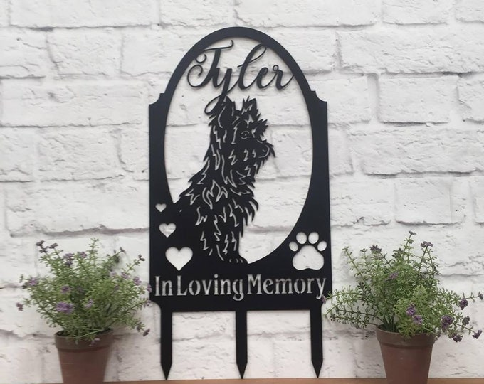 Personalized Metal Dog Memorial  Garden Stake Sign