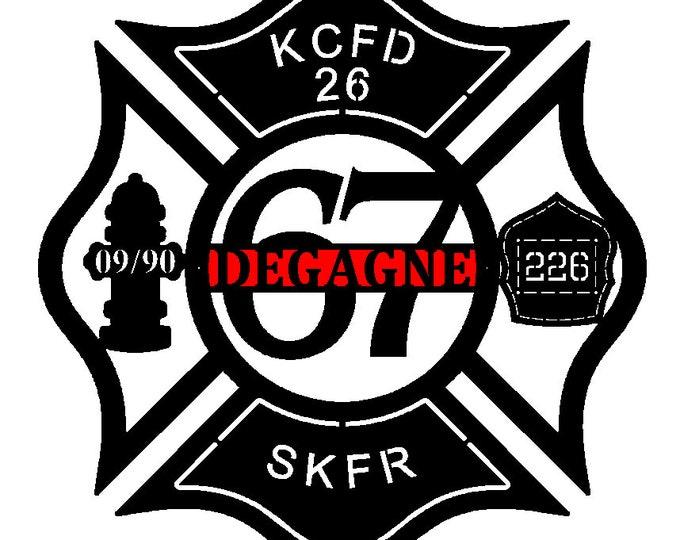 Maltese Cross, Firefighter, Firefighter gift, Firefighter decor, Fire Fighter by HSA