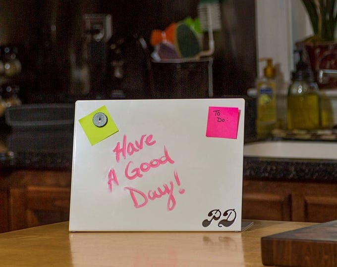 Tabletop Magnetic Dry-Erase Board- Personalized with your Monogram   Sticky Note Board   Desk Organizer   Dorm Decor   Personalized Gift
