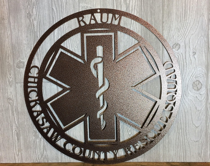 Personalized EMT Sign |  Star of Life  | Personalized Gift ~EMS Gift~ EMT~ Paramedic Gift~ Ambulance Driver~