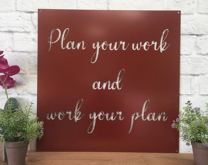 "24"" Custom Metal Quote Sign 