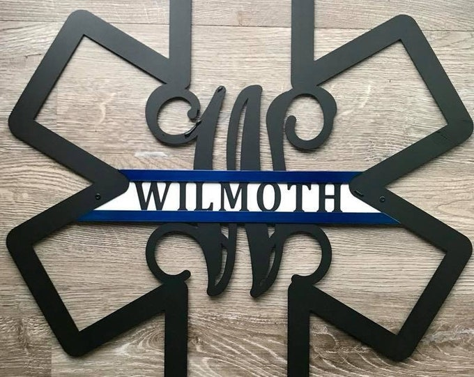 Paramedic Sign- Star of Life, EMS Decor- Three Color