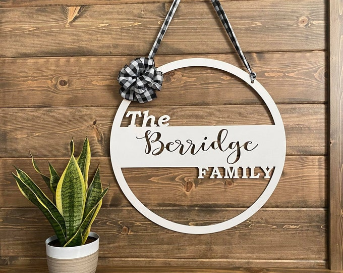 Metal Family Custom Name Sign
