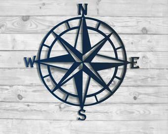 More Colors. Compass Rose Metal Wall Art   Nautical ...