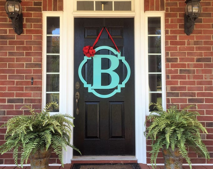 THE DARCY Block : Monogram Door Hanger | Monogram Metal Letter | Front Door Wreath | Initial Door Hanger | Letter Door Hanger | Monogram Doo
