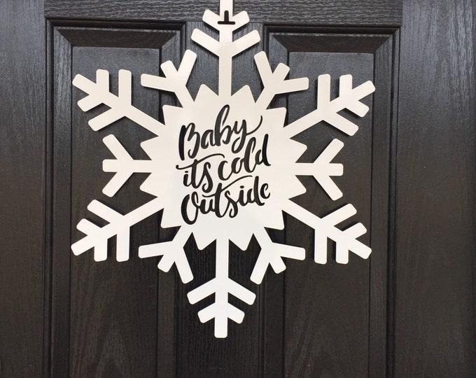 Snowflake Monogram Door Wreath, Snowflake door decorations,