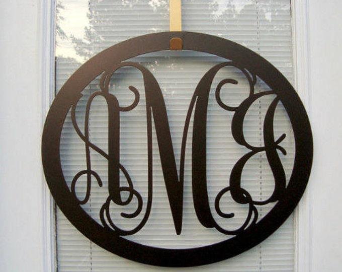 3 Initial Monogram  , Monogram Door Hanger, Monogrammed Wreath, Monogrammed Wall Letters, Front Door Wreaths, Monogrammed