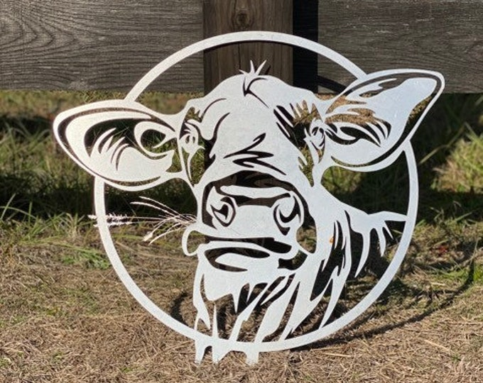 Metal Cow Sign - Wall Decor- Porch Decor ( Betsy)