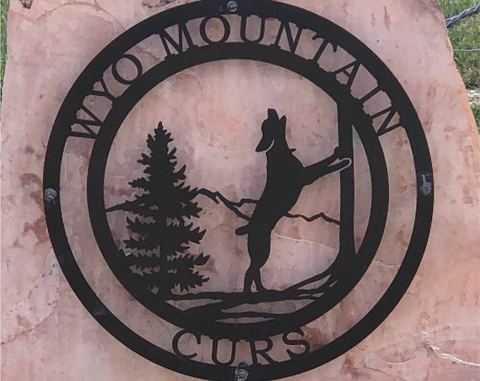 Treeing Coonhound Custom Metal Sign | Mountain Sign | Personalized Dog Sign | Metal Gate Sign | Outdoor Metal Sign | Copyright Design of HSA