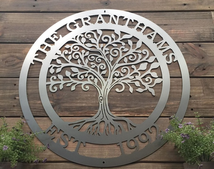Loving Tree of life Wall Art | Metal Wall Decor| Custom Metal Sign