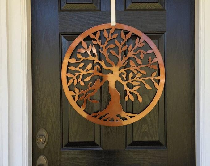 Olive Tree of Life Door Hanger,  Tree Art, Front Door Wreaths, Door Decor, Outdoor Wreath, Mother's Day gift, Family Tree, Gift for her