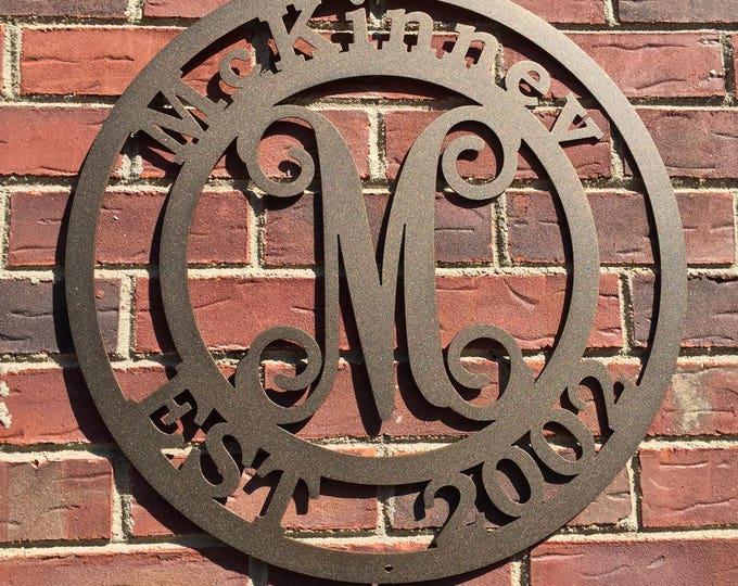 McKINNEV:  Family Established Sign | Family Name Signs | Last Name, Family | Last Name Established Sign | Wedding Gift | Couples Established