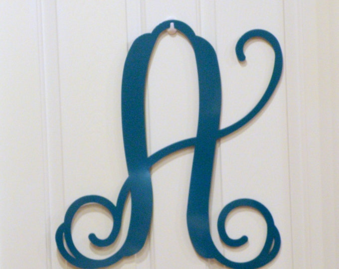 initial door hanger, letter door hanger, Monogrammed door wreath, Door Decor, Year Round Wreath