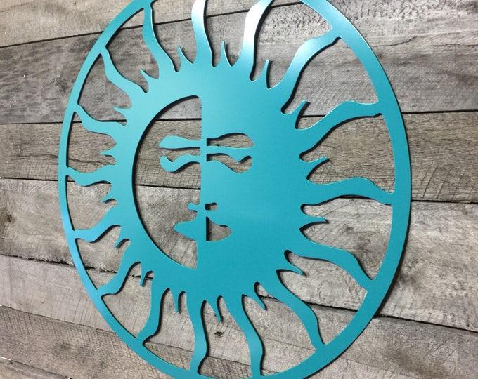 Weatherproof Sun/Moon, Outdoor Art, Pool Art, Custom Metal Art, Metal Wall Art, Outdoor Metal Art/ Sun Art/ Moon Art