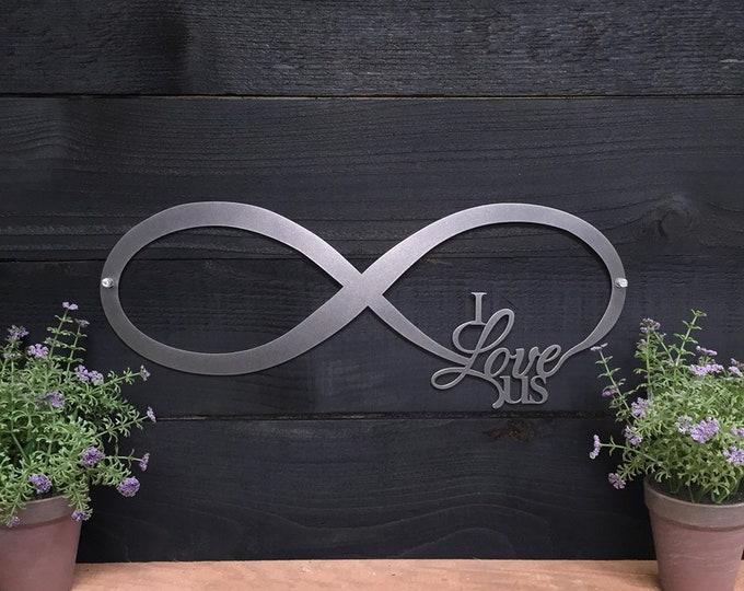 "18"" INFINITY SIGN - ""I love us""   | Wall Decor | Entry Decor | Metal Wall Art | Custom Metal Art"