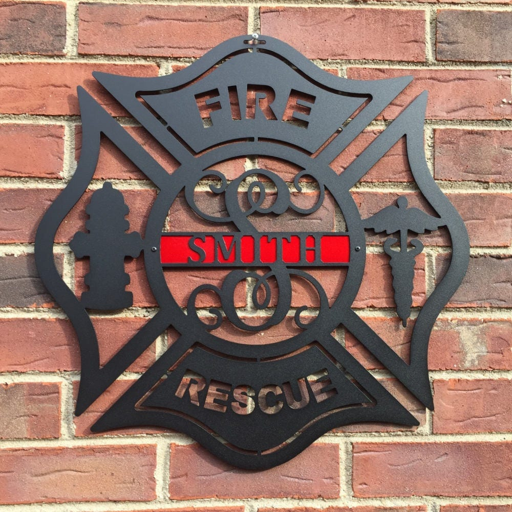 Maltese Cross, Firefighter, Firefighter gift, Firefighter decor ...