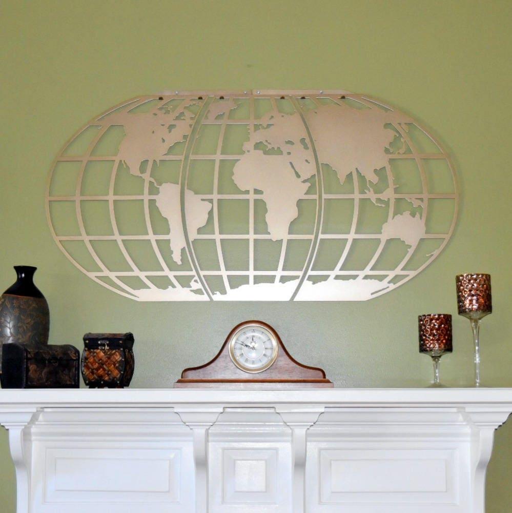 World map atlas globe metal wall art gumiabroncs Images