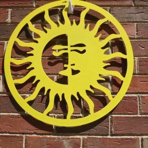 Sun/Moon, Outdoor Art, Pool Art, Custom Metal Art, Metal Wall