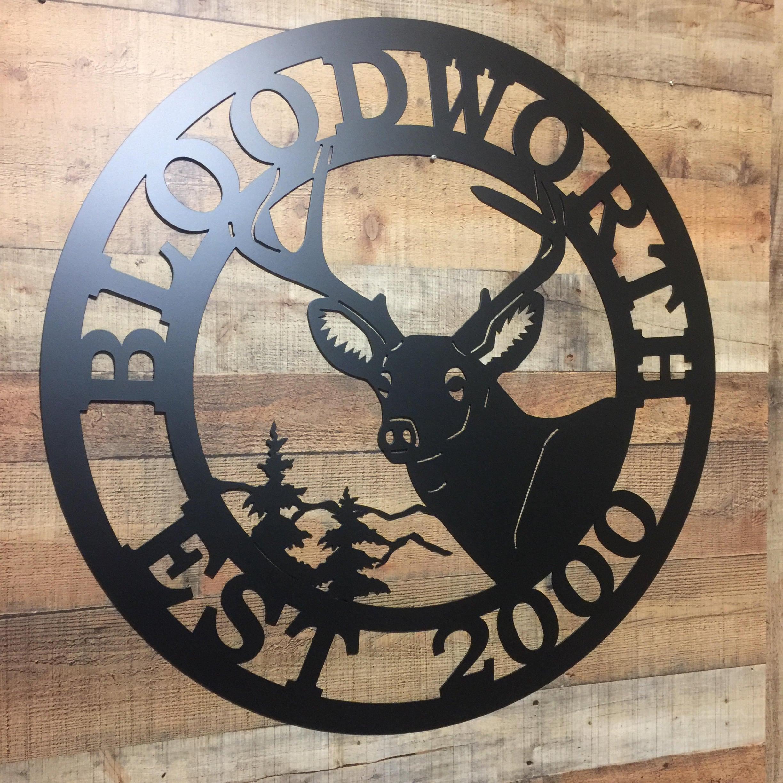Personalized Deer Sign- Established Last Name Family Sign | Gift for ...
