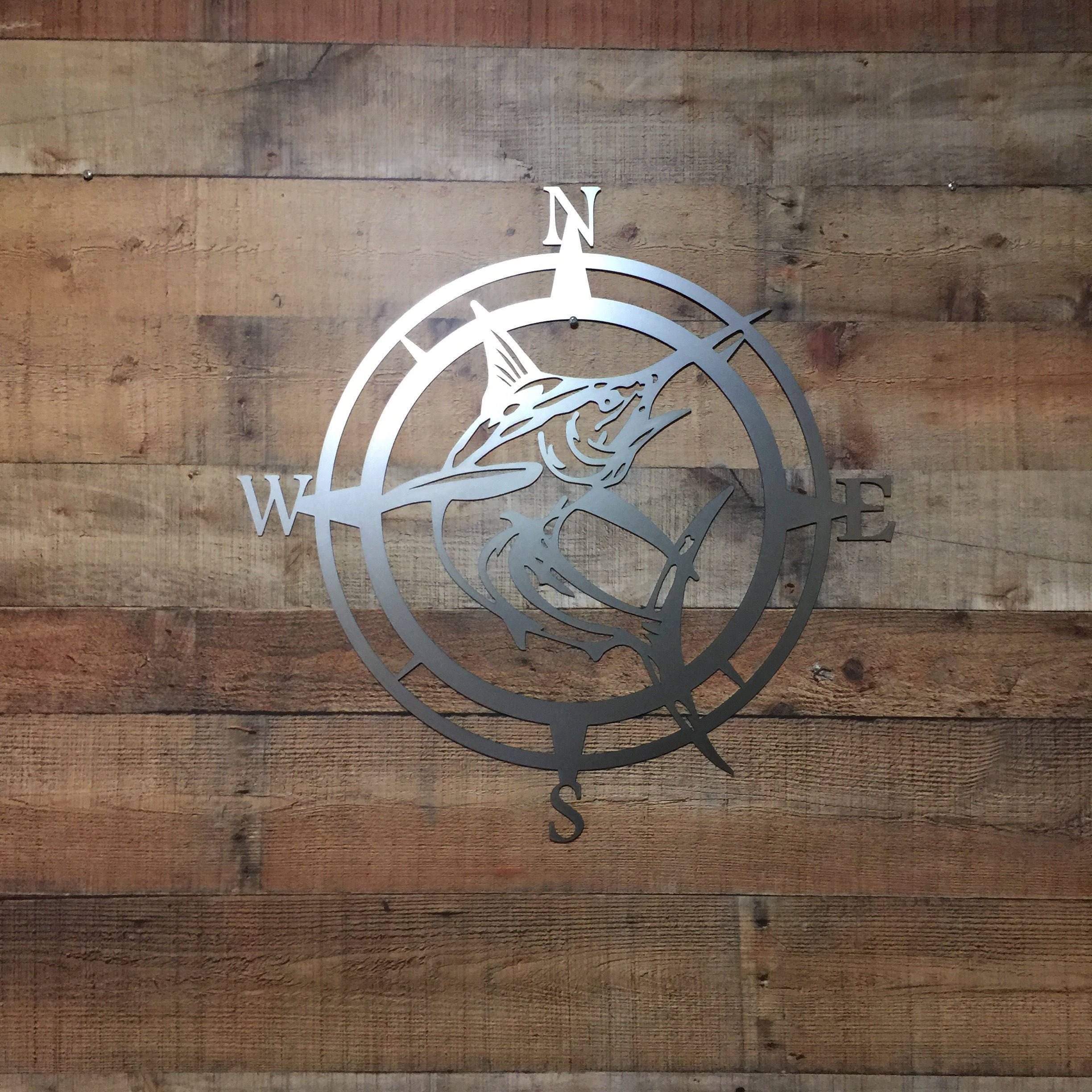 Marlin Compass Wall Decor Marlin CompassWall Art Nautical Metal Wall Art Nautical Rose Outdoor Metal Art Compass Wall Hanging Beach & Marlin Compass Wall Decor Marlin CompassWall Art Nautical Metal ...