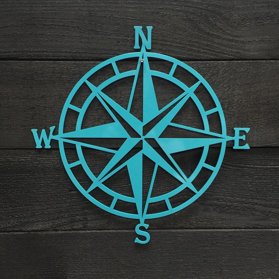 Compass Rose Metal Wall Art | Nautical Compass| Nautical ...