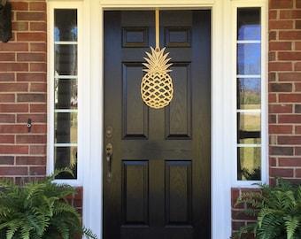 Pineapple, Front Door Wreath, Front Door Decor, Pineapple Decor, Door Hangers, Elegant Door Wreath, Door Decorations, outdoor wreath
