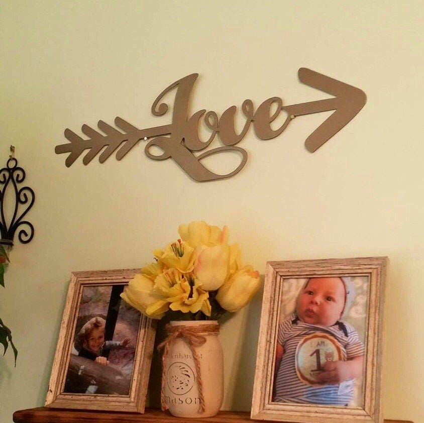 BOHO Nursery Decor, Metal Arrow, Wall Decor, Nursery, Wedding ...