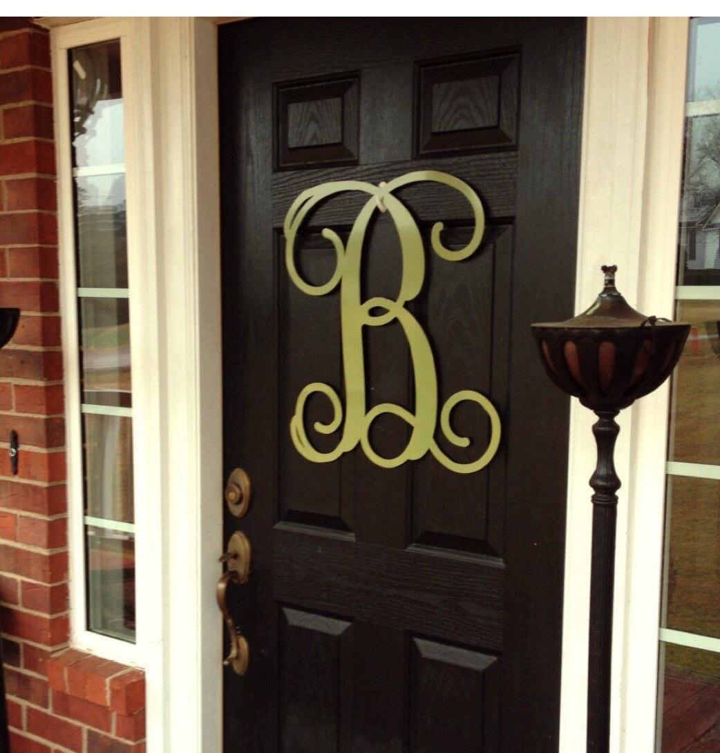 Monogram Door Hanger Summer Door Wreath Large Metal