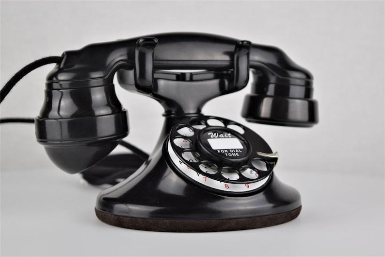 Original Antique Rotary Western Electric Model 202 Telephone - E1 Handset
