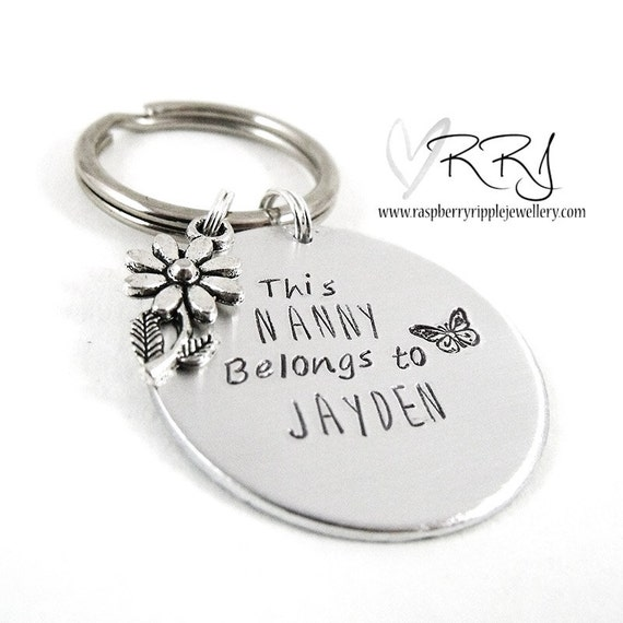 I Love Heart MY NANNY KEYRING Gift Present Family Granny Grandma Grandparent