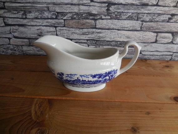 Vintage English Blue And White China Ironstone Broadhurst The Etsy
