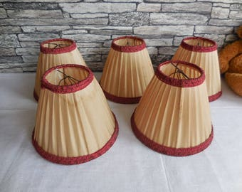 5 Vintage French Lampshades