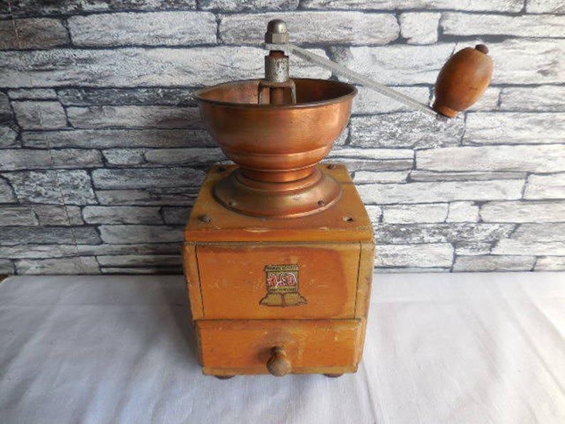 Vintage Belgian coffee grinder