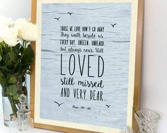 Bereavement Gifts, Remembrance Poem, Custom poem print, Mum/ DadPoem, Sympathy, Bereavment Poem, Funeral Poem, Memorial gifts, Grandad poem