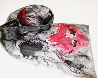 83c227f5bed6d Hand painted silk scarf