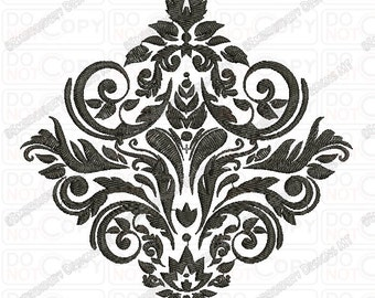 Lion Outline Tribal Embroidery Design in 3x3 4x4 and 5x7 Sizes