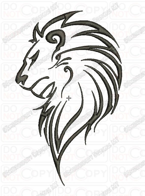 Lion Outline Tribal Embroidery Design In 3x3 4x4 And 5x7 Sizes Etsy 570 x 769 jpeg 69 кб. lion outline tribal embroidery design in 3x3 4x4 and 5x7 sizes