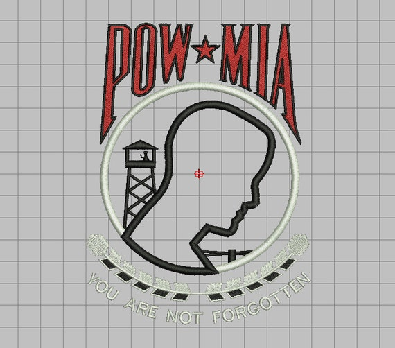 Pow Mia Prisoners Of War Missing In Action Applique Embroidery Etsy