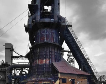 Blast Furnace at Carrie Furnace site, Rankin, PA, close to Pittsburgh, Pennsylvania