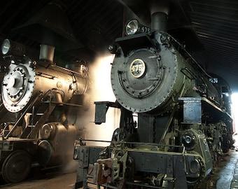 Steam Engine in the depot, Strasburg, PA