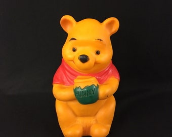 Vintage Squeak Toy Winnie The Pooh Sears Roebuck and Co. 60s 7 1/4 Inches Disney