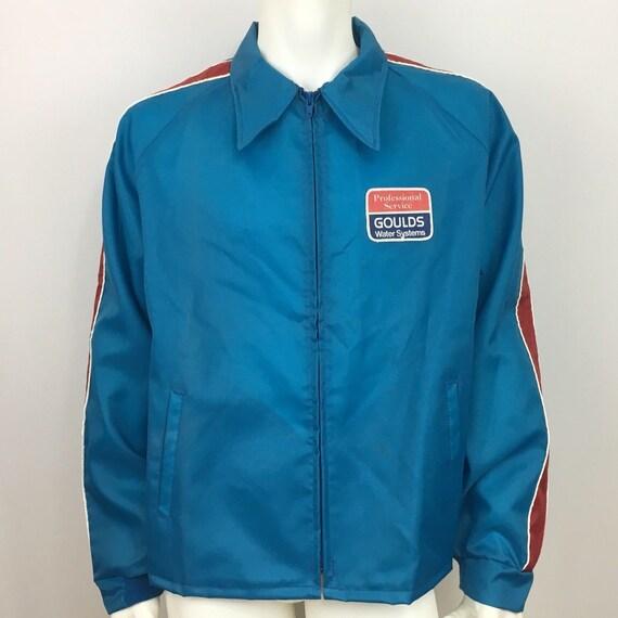 ... Vintage bleu pilote uniforme veste taille XL bleu Vintage Goulds eau  livreur Patch 468463 ... 64ff8e2ac068