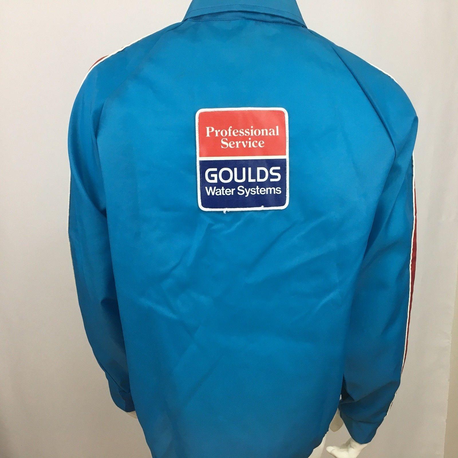 Vintage bleu pilote uniforme veste taille XL bleu Vintage Goulds eau  livreur Patch 468463 d7049373b853