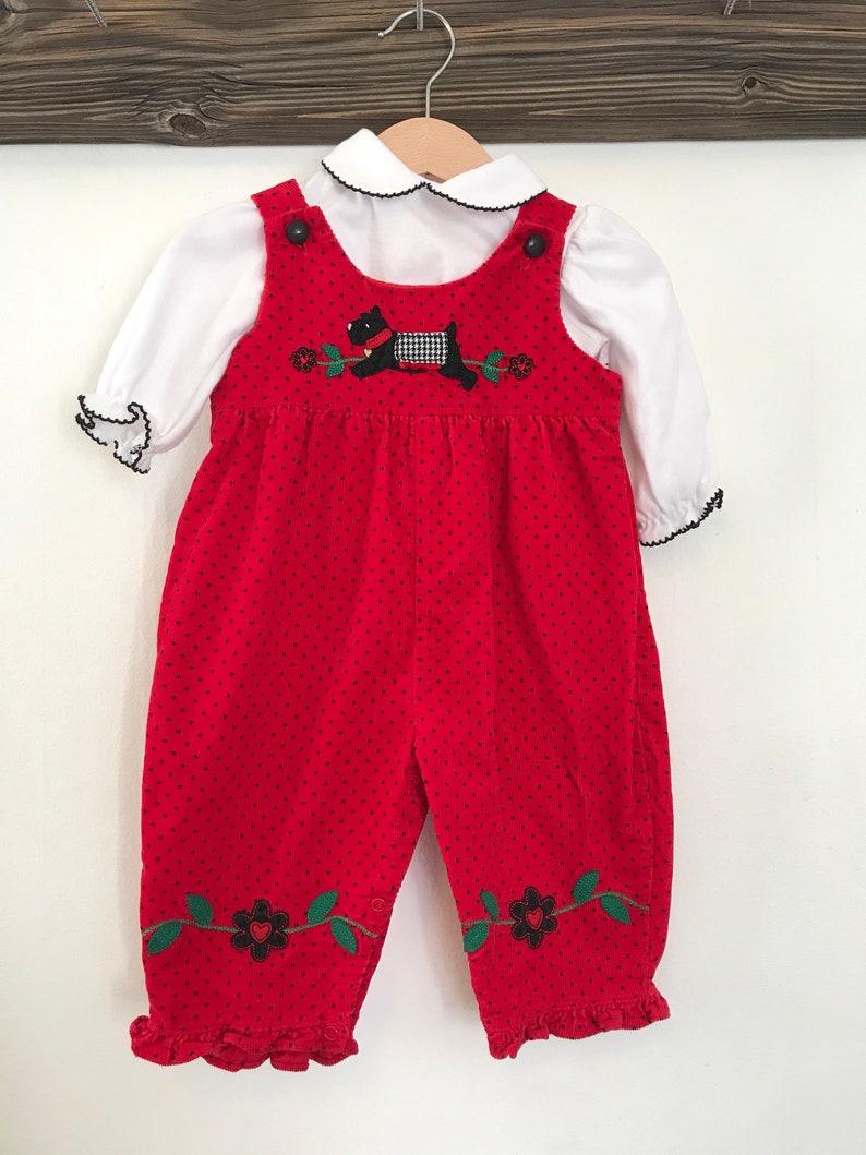 d59ed8766de Vintage Goodlad overall set 6-9 months vintage baby clothes