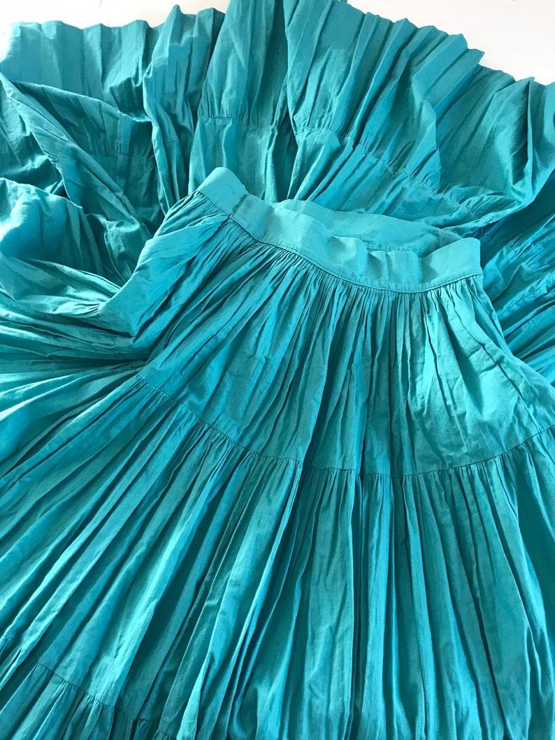 western prairie vintage circle skirt peasant 1970\u2019s country pioneer vintage cottage core skirt handmade tiered skirt 28\u201d 1960\u2019s