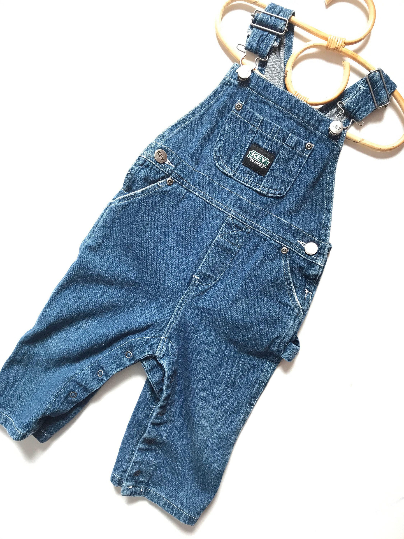 Vintage Overalls & Jumpsuits Vintage Key Overalls, Carpenter Style, Denim Jean Toddler 12 Months, Western, Boho, Hippie, Folk, Baby $0.00 AT vintagedancer.com