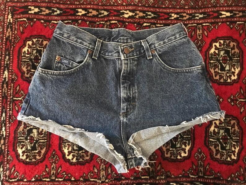 b729c11a9c Vintage Lee denim cutoffs cheeky shorts high rise fits   Etsy