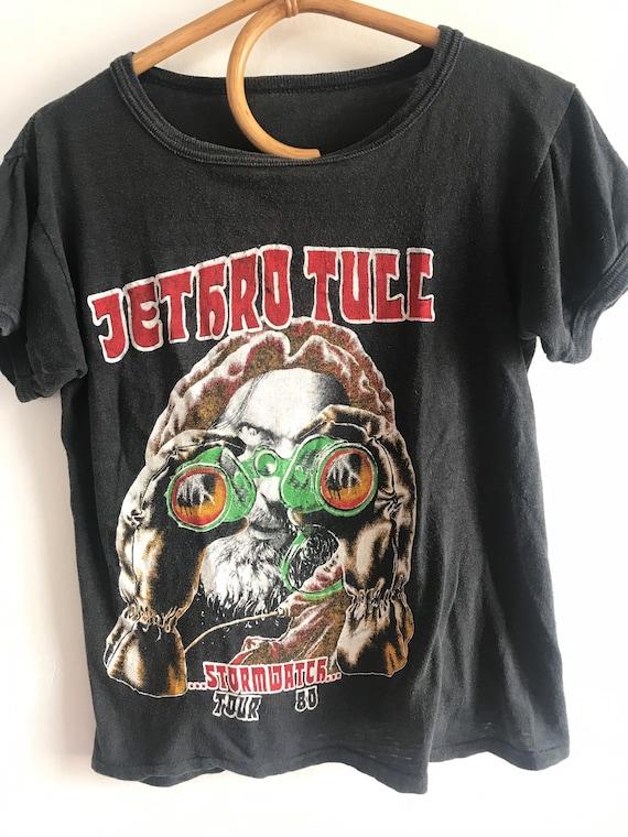Vintage band tee, 1980 stormwatch tour shirt, smal