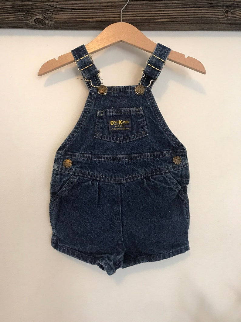 beb014b4d661 Vintage OshKosh denim overalls Oshkosh shortalls 12 months