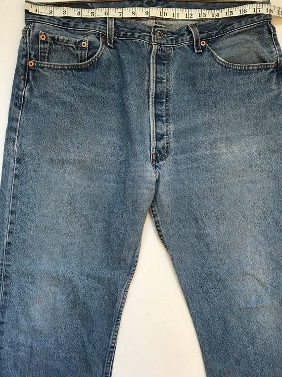 Vintage Levis Custom Jeans, levis 501, Cropped Le… - image 7